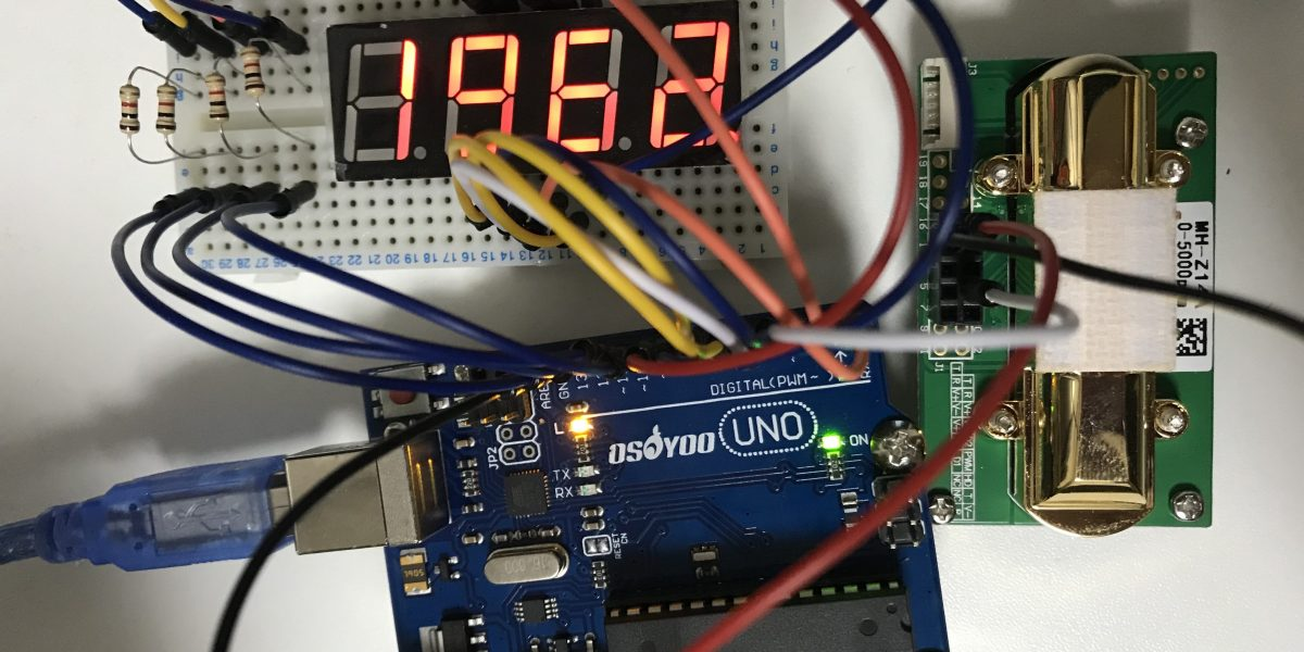 Arduinoで作業環境の二酸化炭素濃度を計測してみた
