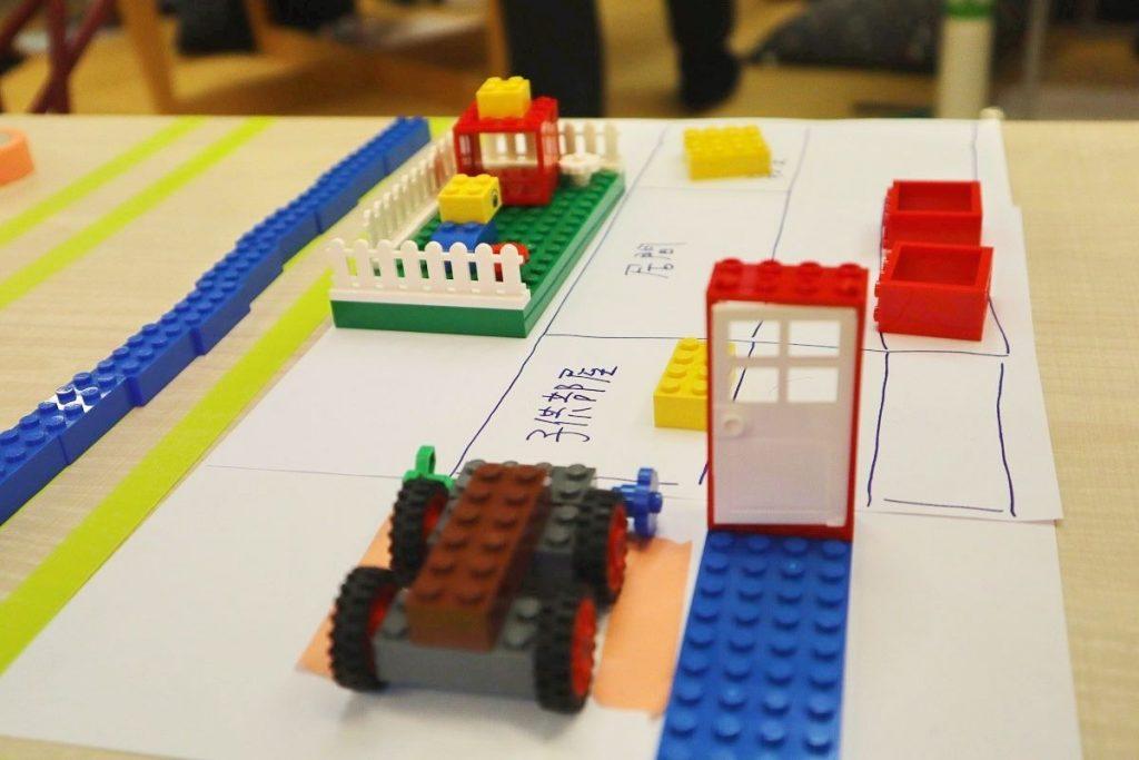 レゴで作った家の間取り